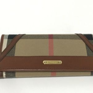 Burberry Wallet with Saddle Leather Trim